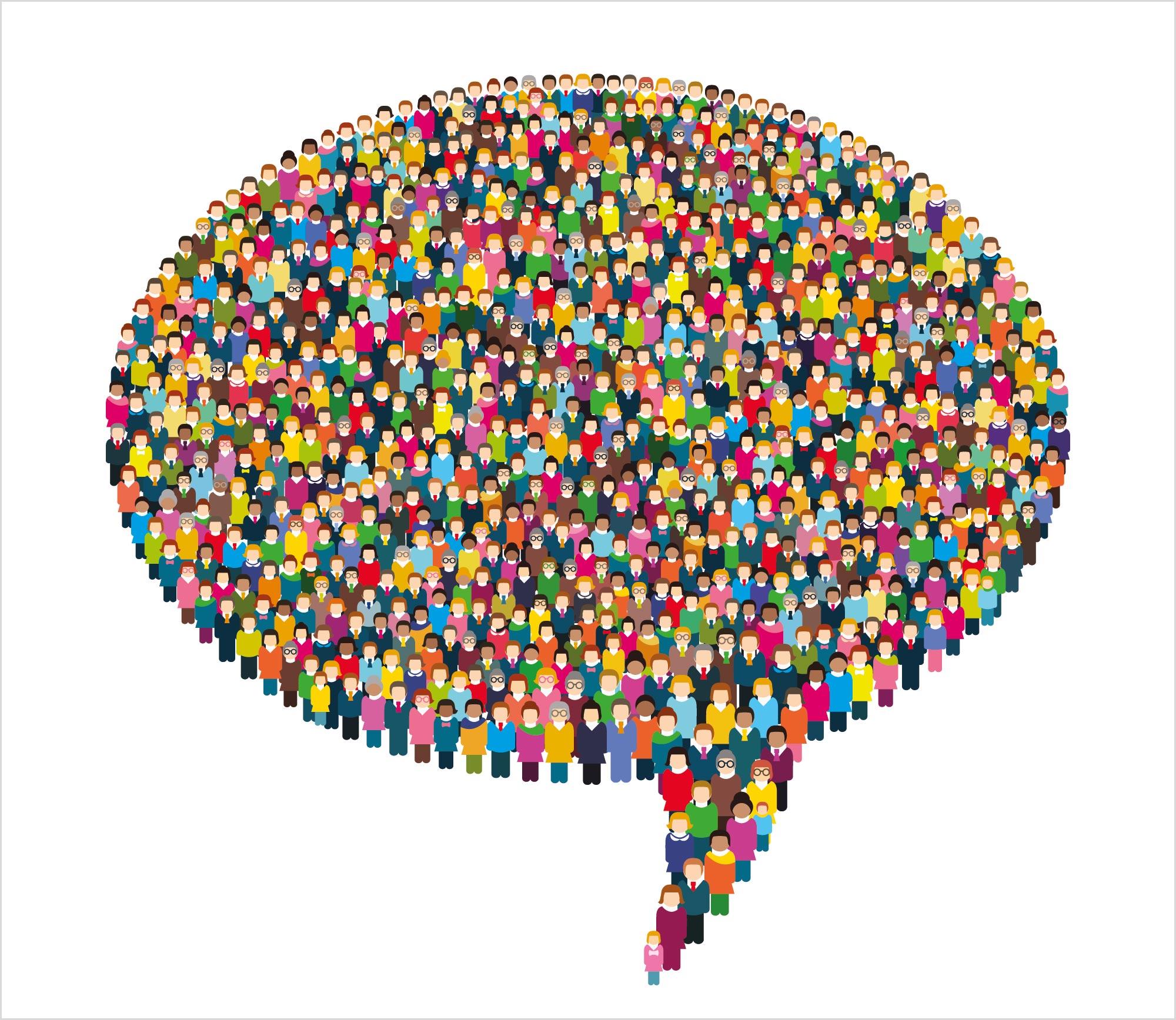 group-of-people-in-shape-of-speech-bubble