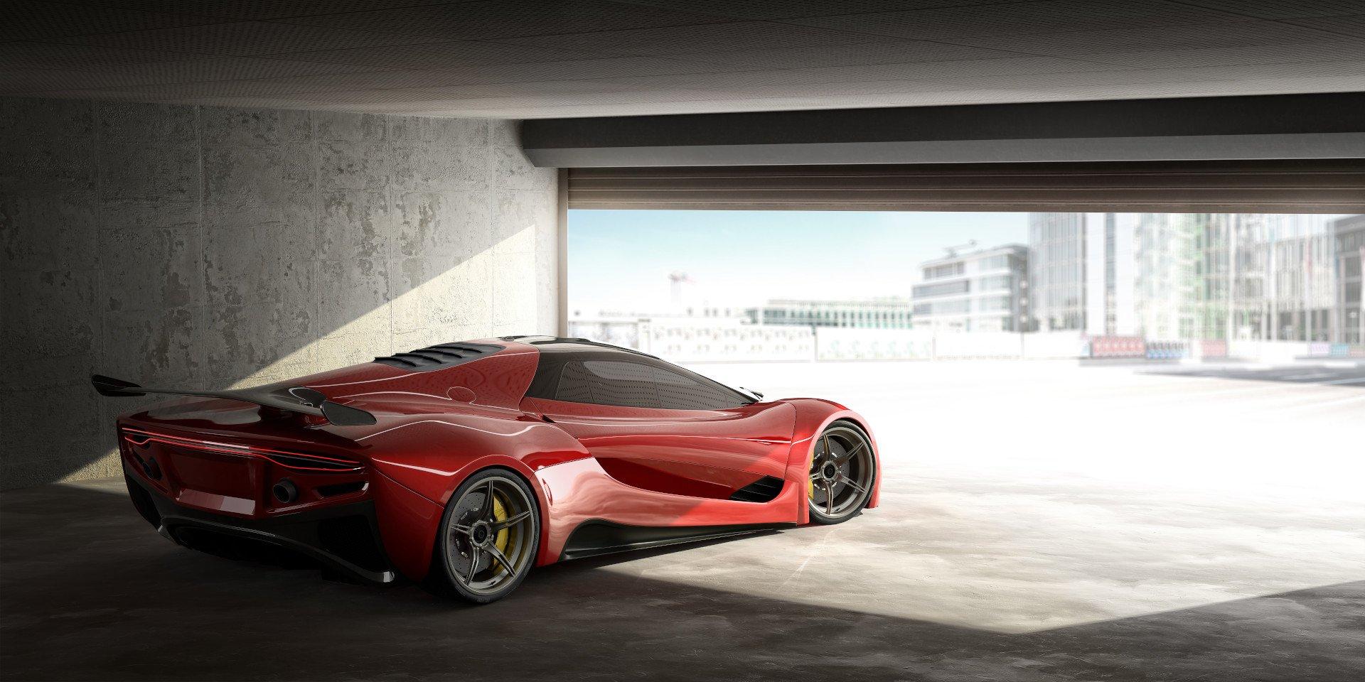 fast-car-open-garage-door